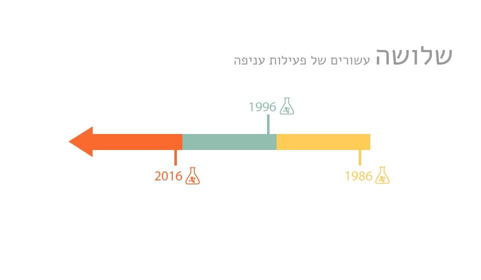 שלושה עשורים של פעילות עניפה